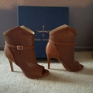 "Pour La Victoire  Leather Booties ""Make a Offer """